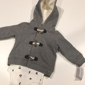 NWT winter hoodie and shirt infant boy size 9 mos